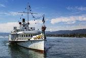 ship on the Zurich Lake, Switzerland — Stock Photo