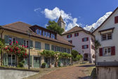Street in Rapperswil, Switzerland — Stok fotoğraf