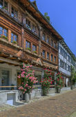 Street in Rapperswil, Switzerland — Stock Photo