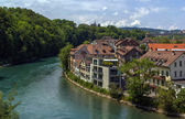 Aare river, Bern — Stock Photo