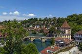 Aare river, Bern — Stock Photo