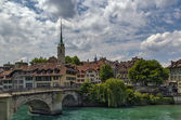 Bridge over the Aare river in Bern, Switzerland — Stock Photo
