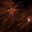Beautiful fireworks on black sky — ストック写真