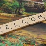 Word welcome — Stock Photo