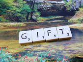 Word gift — Stock Photo