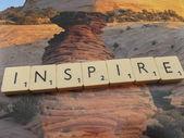 Word inspire — Stock Photo