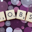 Stock Photo: Word jobs