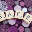 Royalty-Free Stock Photo: Word safe
