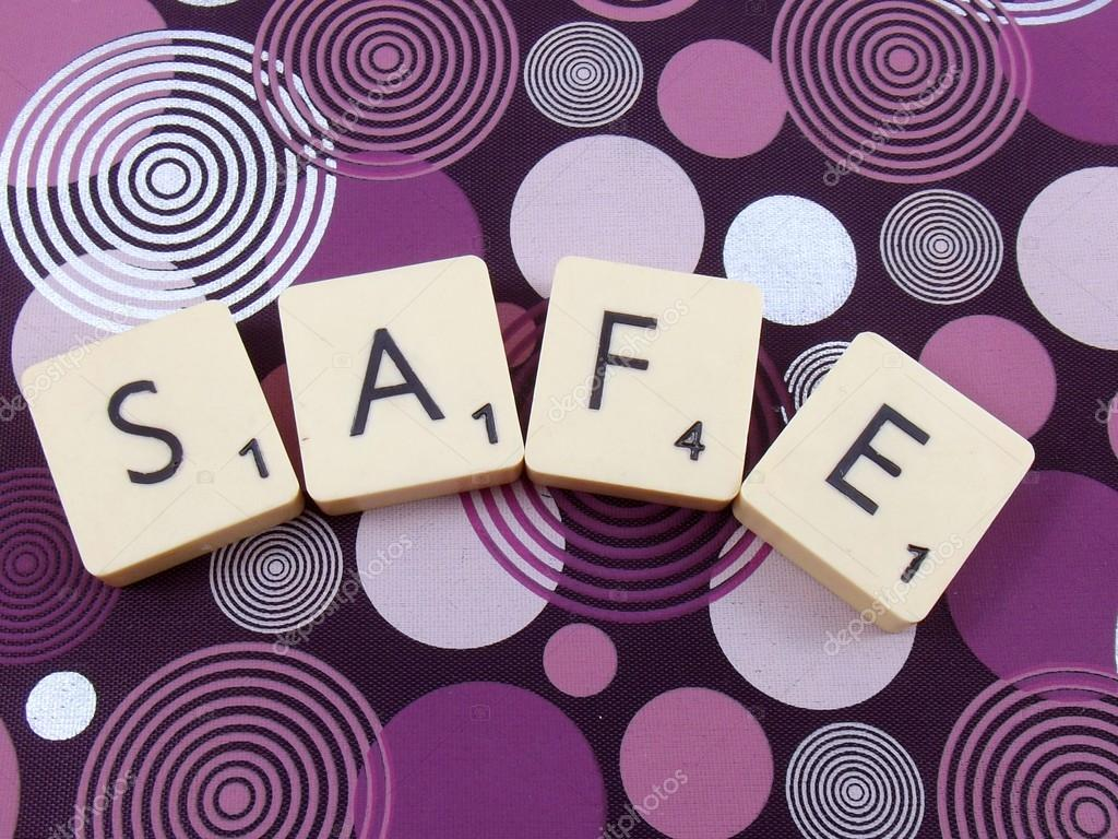 Word safe on abstract background — Stock Photo #13708217