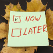 Word now ,later — Foto Stock