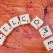 Word welcome — Stock Photo