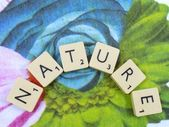 Word nature — Foto de Stock