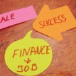 Stock Photo: Word sale,success,finance,,job