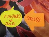 Word finance,job,success — Stock Photo