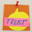 Word trust — Stock Photo