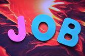 Ordet jobb — Stockfoto