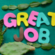 Word great job — Stock Photo