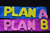 Plan a, plan b — Foto de Stock