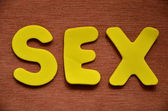 Word sex — Foto de Stock