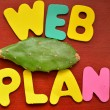Stock Photo: Web plan