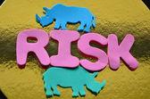 Slovo riziko — Stock fotografie