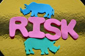 Słowo ryzyko — Zdjęcie stockowe