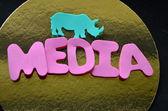 Ordet media — Stockfoto