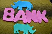 Ordet bank — Stockfoto