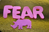 Ordet rädsla — Stockfoto