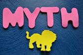 Slovo mýtus — Stock fotografie