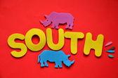 Ordet söder — Stockfoto