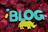 Blogg — Stockfoto