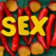 Stock Photo: Word sex