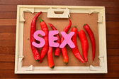 Word sex — Stock Photo