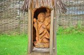 Dřevěná socha — Stock fotografie
