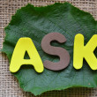 Word ask — Stock Photo #31987897