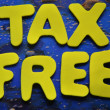 Tax free — Stock Photo