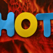 Word hot — Stock Photo