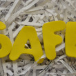Stock Photo: WORD SAFE