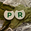 WORD PR — Stock Photo