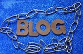 Słowo blog — Zdjęcie stockowe
