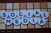 Word social media — Stock Photo