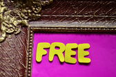 Słowo free — Zdjęcie stockowe