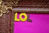 WORD LOL — Stock Photo