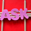 Word ask — Stock Photo #34988827