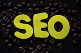 Słowo seo — Zdjęcie stockowe