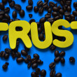 Stock Photo: Word trust