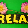 Word relax — Stock Photo