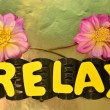 Word relax — Stock Photo #35872995
