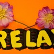 Word relax — Stock Photo #35873049